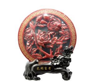 炭雕(花开富贵)
